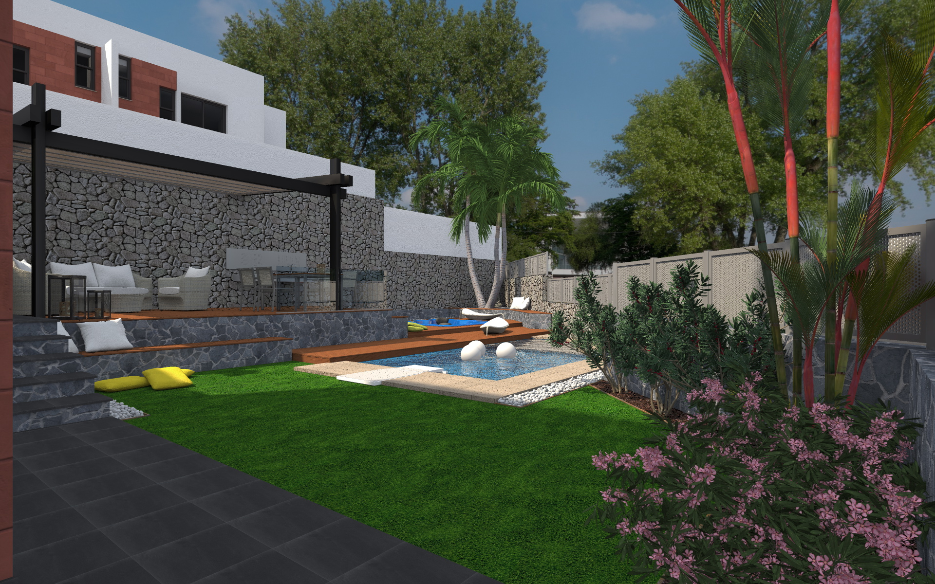 Renders proyectos paisajismo iv canaryproject for Jardines particulares